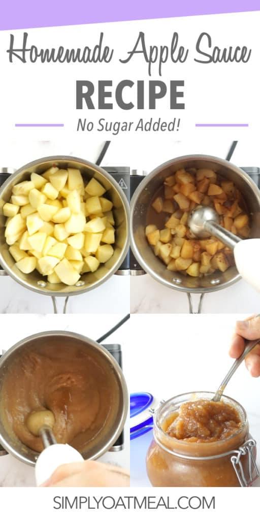 Homemade applesauce recipe in 15 minutes