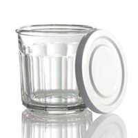 Glass Storage Jar with White Lid, 14-Fluid Ounces