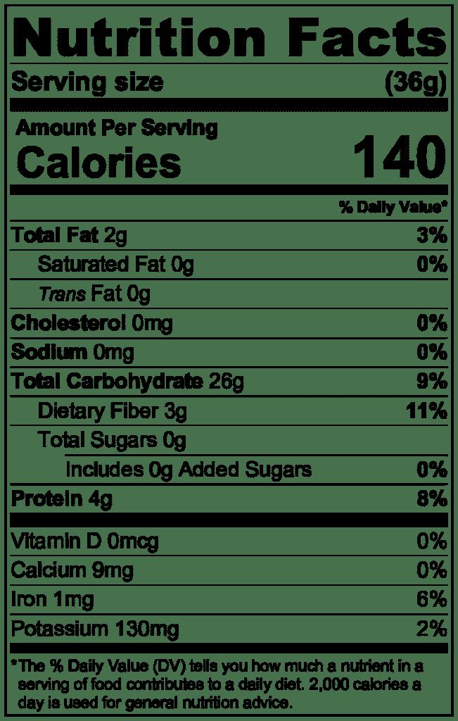 Scottish oats nutrition information