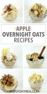 Apple overnight oats pictures collage