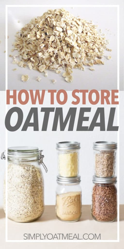 Bulk oats stored in glass containers