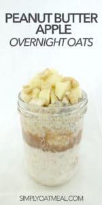 A single serving of peanut butter overnight oats in a glass jar.
