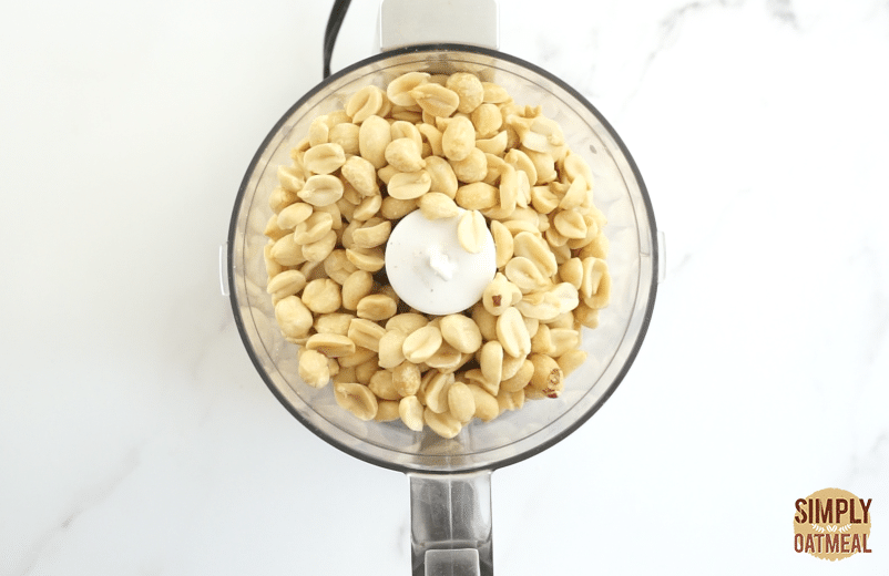 place peanuts in food processor before grinding