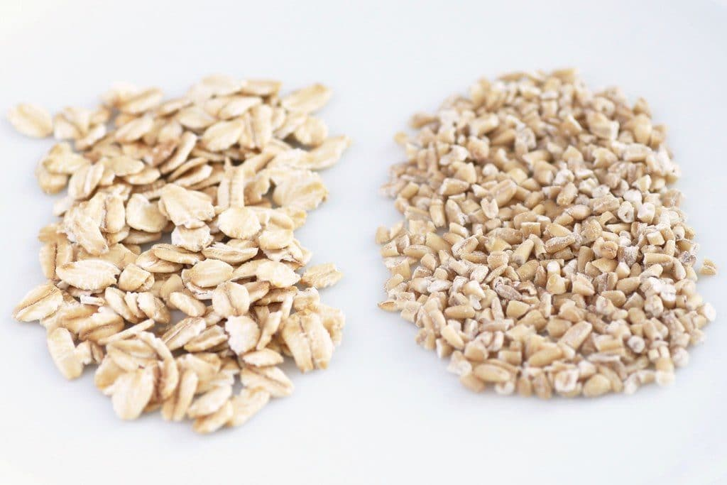 The difference between rolled oats and steel cut oats.