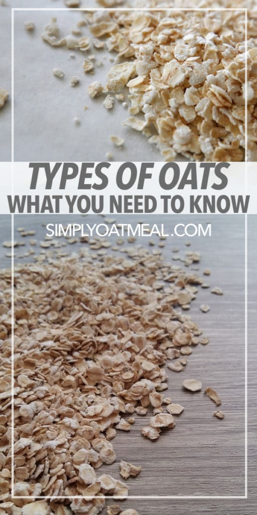 The types of oats frequently used in oatmeal recipes.