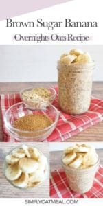 How to make brown sugar banana overnight oats. Start by mashing the banana at the bottom of the container to enhance the overall flavor.