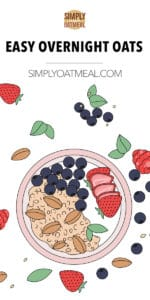 Bowl of overnight oats with fresh fruit toppings