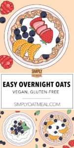Overnight oats toppings and flavor combinations
