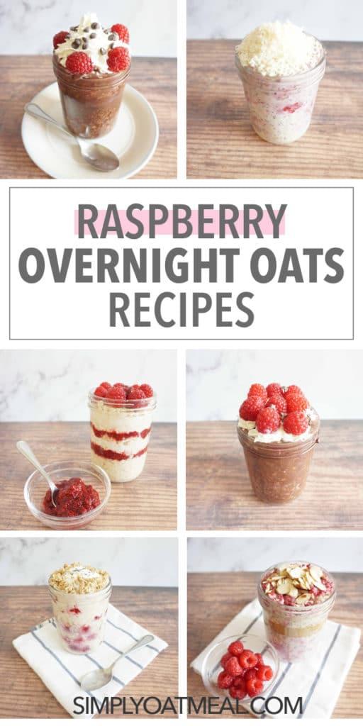 Raspberry overnight oats recipes