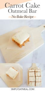 How to make no bake carrot cake oatmeal bars