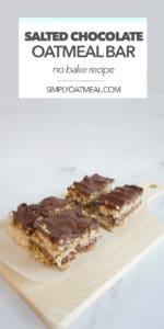 No bake chocolate pretzel oatmeal bars combine sweet and salty tastes