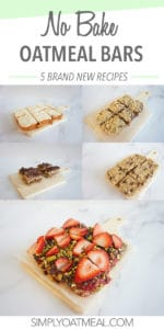 Five different no bake oatmeal bars