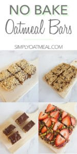 Five different recipes for no bake oatmeal bars