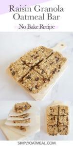 How to make no bake oatmeal raisin bar