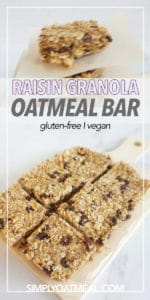 No bake oatmeal raisin bars displayed on a service platter