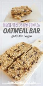 No bake oatmeal raisin bars displayed on a service platter