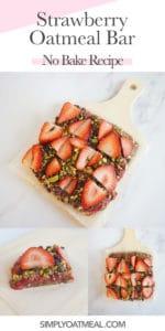 How to make no bake strawberry oatmeal bars.