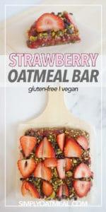 Easy to make no bake strawberry oatmeal bars