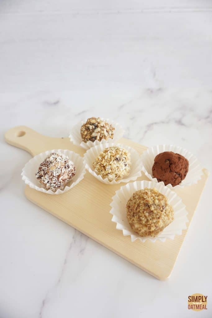 5 different types of no bake oatmeal balls recipes