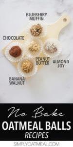5 no bake oatmeal balls recipes