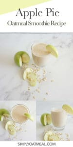 How to make apple pie oatmeal smoothie
