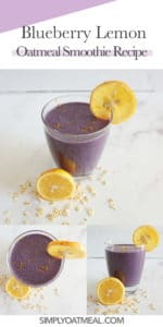 How to make a blueberry lemon oatmeal smoothie