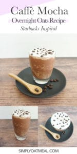 How to make caffe mocha overnight oats with cocoa powder and coffee.
