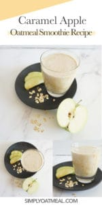 How to make caramel apple oatmeal smoothie