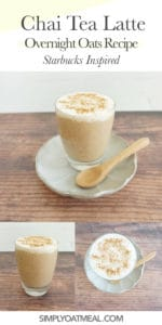 How to make chai tea latte overnight oats