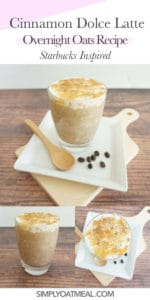 How to make cinnamon dolce latte overnight oats