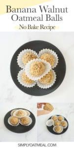How to make no bake banana walnut oatmeal balls