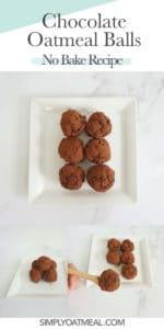 How to make no bake chocolate oatmeal balls