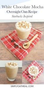 How to make white chocolate mocha overnight oats