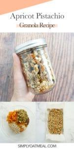 How to make apricot pistachio granola