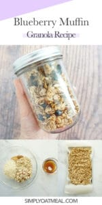 How to make blueberry muffin granola