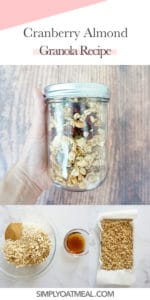 How to make cranberry almond granola
