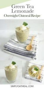 How to make green tea lemonade overnight oats