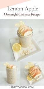 How to make lemon apple overnight oats