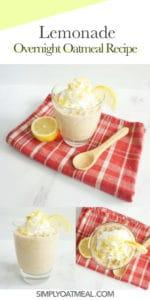 How to make lemonade overnight oats