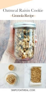 How to make oatmeal raisin cookie granola