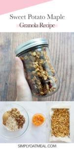 How to make sweet potato maple granola