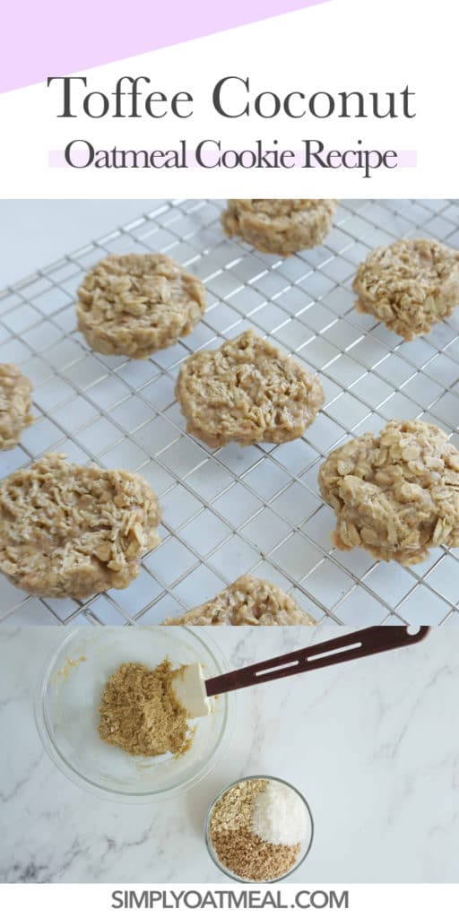 How to make toffee coconut oatmeal cookies