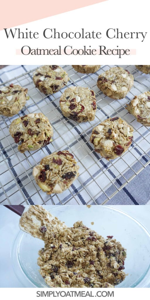 How to make white chocolate cherry oatmeal cookies