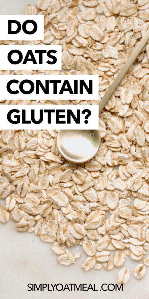 Do oats contain gluten?