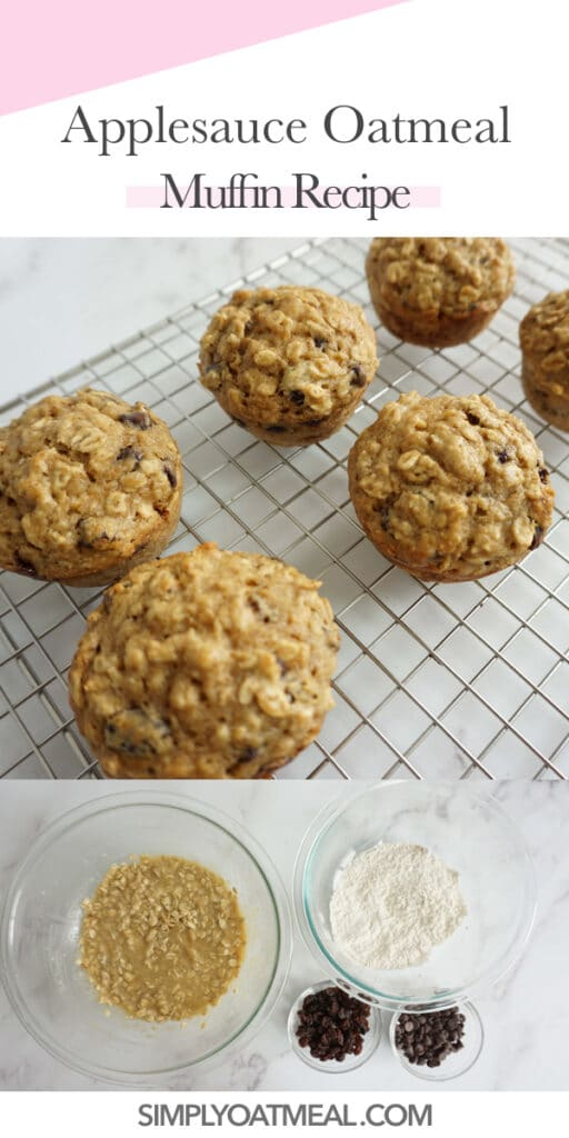 How to make applesauce oatmeal muffins