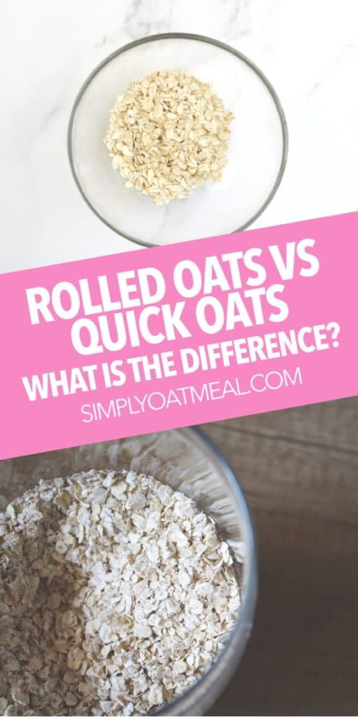 Rolled oats vs quick oats: what is the difference? Quick oats are rolled much thinner than rolled oats. Quick oats cook faster and result in a mushier texture.