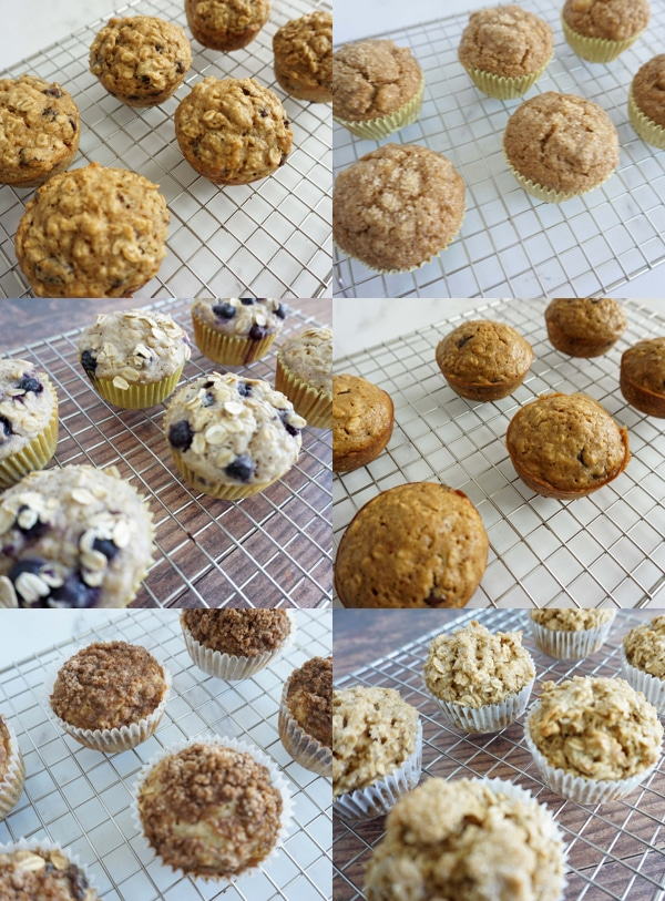 Easy Oatmeal Muffins (6 Brand New Recipes!)