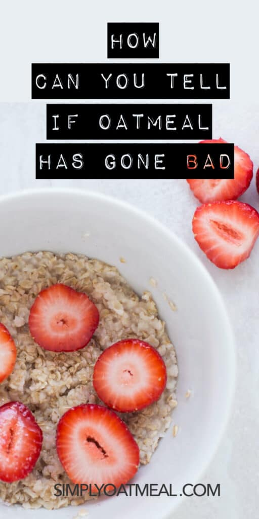How can you tell if oats have gone bad?