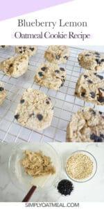 How to make blueberry lemon oatmeal cookies