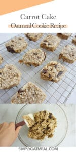 How to make carrot cake oatmeal cookies.